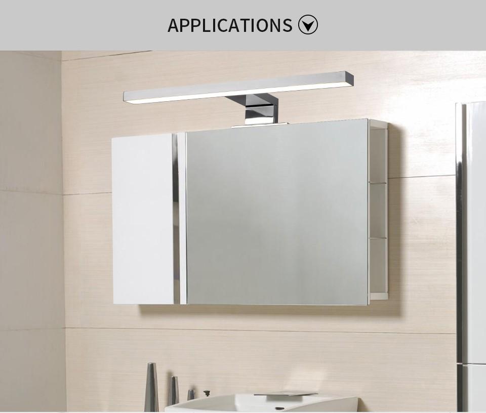 led lampe is002 300p rein wei f r badezimmer spiegel. Black Bedroom Furniture Sets. Home Design Ideas