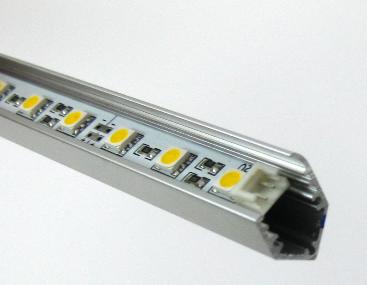rein wei 3chip led leiste 12v 30 x 0 22w in alu profil